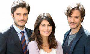 Lino Guanciale con Dario Aita e Alessandra Mastronardi