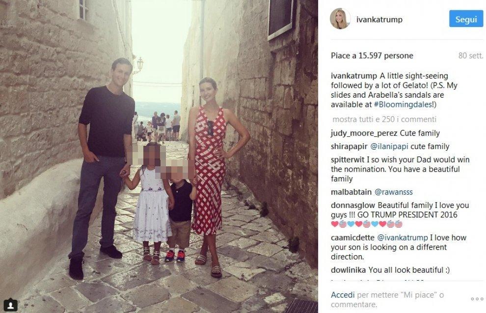 Ivanka convince papà Trump a fare le vacanze in Puglia