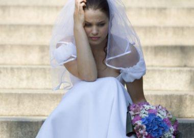 sposa che piange