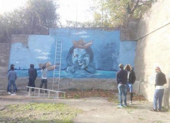 graffiti e integrazione a Monteleone