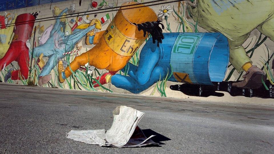 Il murale a Campobasso