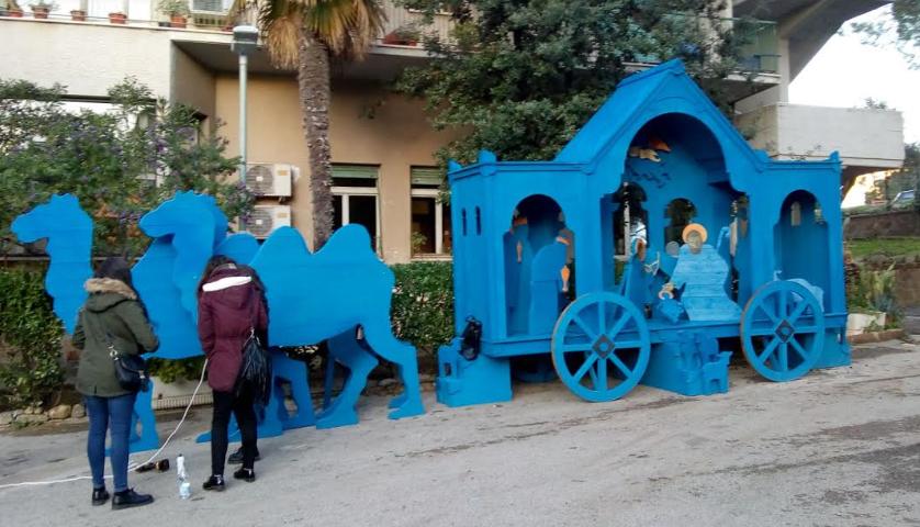 Presepe blu a Sassari