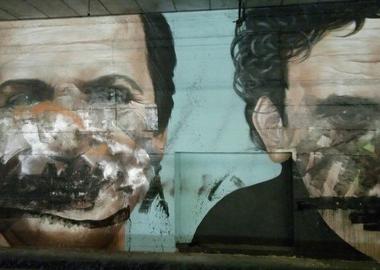 Murale Troisi e Noschese