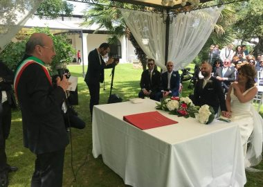 Le nozze celebrate dal radiocronista Michele Salomone