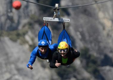 Volo dell'Angelo sulle Dolomiti Lucane