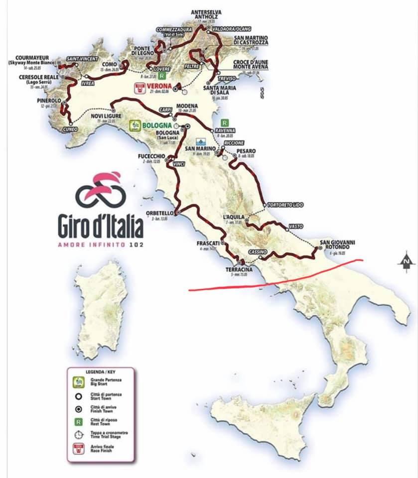 Giro d'Italia senza sud